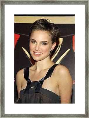 Natalie Portman At Arrivals For V For Framed Print