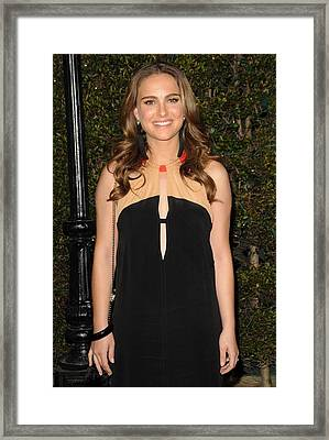 Natalie Portman Wearing A Vena Cava Framed Print by Everett