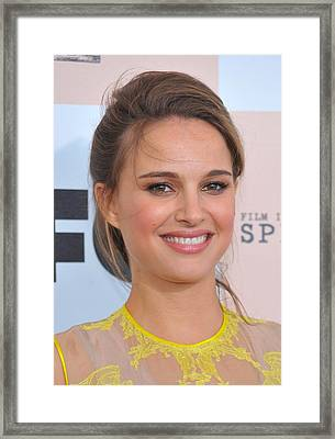 Natalie Portman Wearing Givenchy Framed Print by Everett