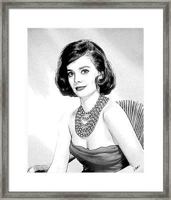 Natalie Wood 05 Framed Print by Dean Wittle