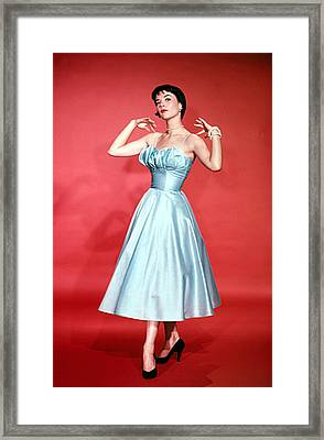 Natalie Wood, 1956 Framed Print