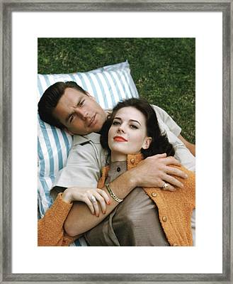 Natalie Wood And Robert Wagner, Late Framed Print