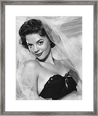 Natalie Wood, Warner Brothers, 1950s Framed Print