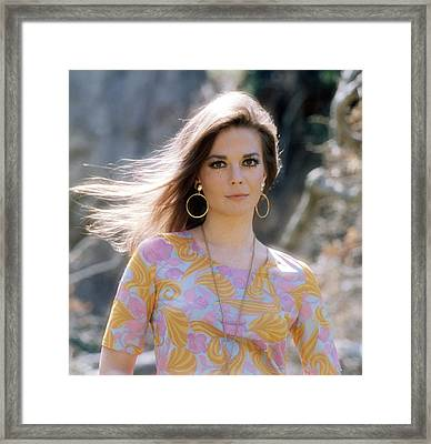 Natalie Wood, Wearing A Pucci Design C Framed Print