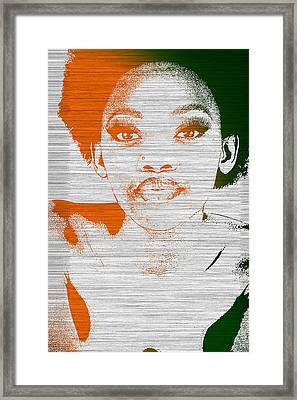 Natasha Framed Print by Naxart Studio
