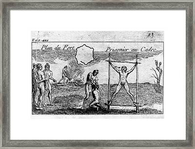 Natchez Punishment, C1725 Framed Print by Granger