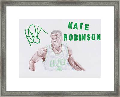 Nate Robinson Framed Print by Toni Jaso