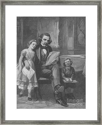 Nathaniel Hawthorne, American Author Framed Print by Photo Researchers