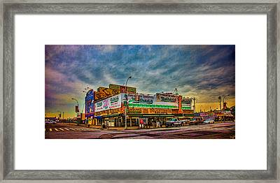 Nathan's Famous Hot Dog Emporium Framed Print by Chris Lord