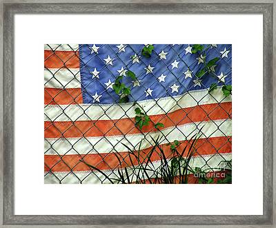 Nation In Distress Framed Print by Joe Jake Pratt