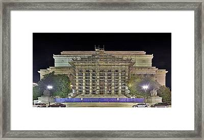 National Archives Building Renovation Framed Print by Metro DC Photography