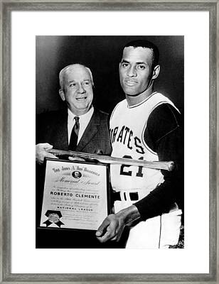 National League President Warren Giles Framed Print by Everett