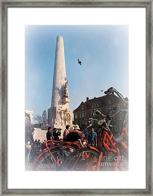 National Memorial In Amsterdam Framed Print by Trude Janssen