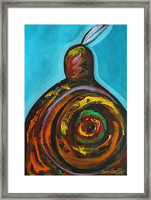 Native Abstract Framed Print by Lance Headlee