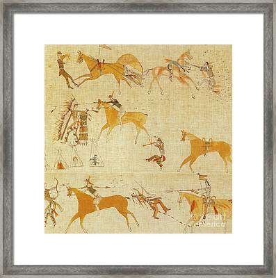 Native American Art Framed Print by Photo Researchers