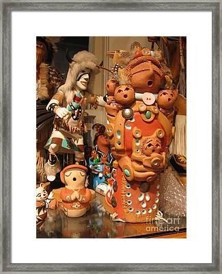 Framed Print featuring the photograph Native  American Folk Art by Dora Sofia Caputo Photographic Art and Design