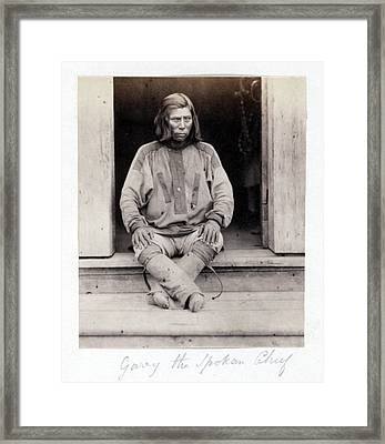 Native American Indian Chief, Garry Framed Print by Everett