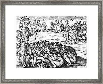 Native American Indian Widows Approach Framed Print