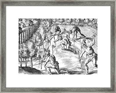Native American Indians Declaring War Framed Print