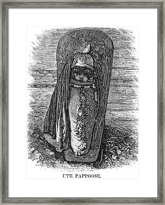 Native American Papoose: Ute, 1879 Framed Print by Granger