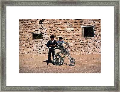 Native American Reservation. Two Hopi Framed Print
