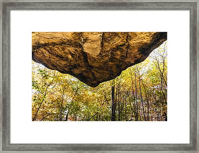 Native American Rock Shelter Framed Print by Thomas R Fletcher