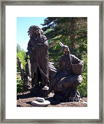 Framed Print featuring the photograph Native American Statue by Chalet Roome-Rigdon