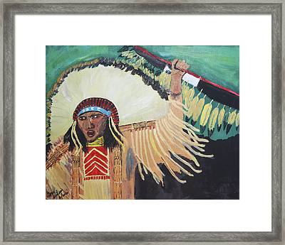 Native American Warrior Framed Print