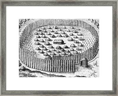 Native Americans: Florida Village Framed Print
