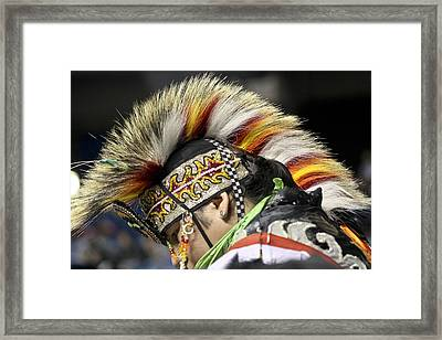 Framed Print featuring the photograph Native Canadian-head Dress by Nick Mares