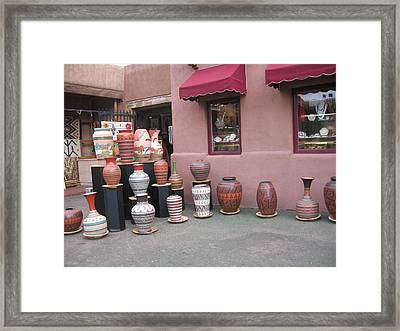 Framed Print featuring the photograph Native Jars And Vases Market by Dora Sofia Caputo Photographic Art and Design