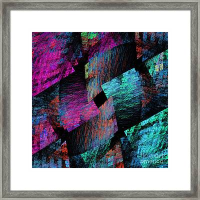 Native Quilt Abstract Framed Print