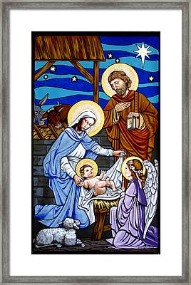 Nativity At Valley Ranch Framed Print
