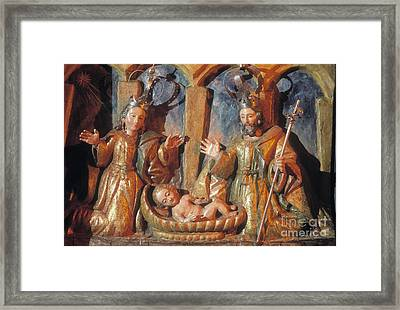 Nativity Framed Print by Juan  Silva
