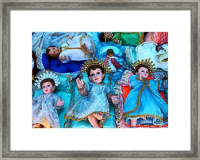 Nativity Scene Figures Framed Print by James Brunker