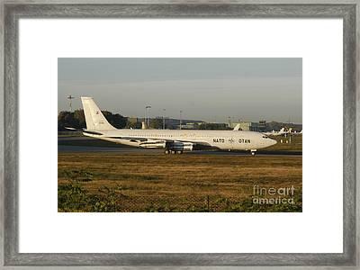 Natos Boeing 707 Tca Trainer Aircraft Framed Print by Timm Ziegenthaler
