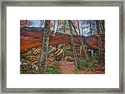 Natural Bridge Framed Print by Charles Fletcher