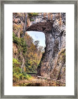 Natural Bridge Virginia Framed Print by JC Findley
