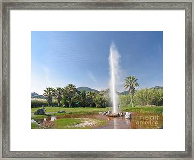 Natural Geyser Framed Print by Jaak Nilson