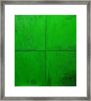 Natural Green Coordinate System Framed Print by Kazuya Akimoto