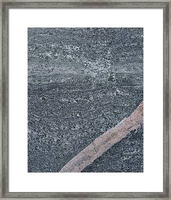 Natural Rock Framed Print by Kathy Peltomaa Lewis