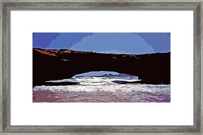 Natural Stone Bridge - Aruba Framed Print by Juergen Weiss