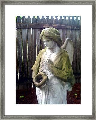 Nature Angel Framed Print by Rebecca Poole
