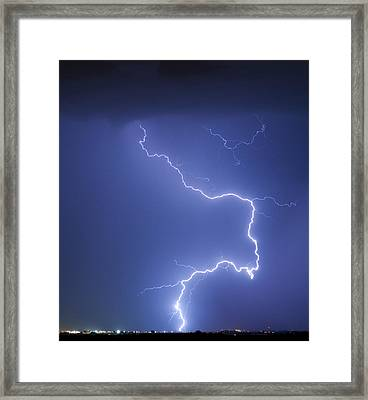 Nature Strikes Framed Print