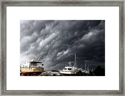 Nature's Fury Framed Print by Karen Wiles