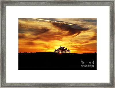 Nature's Last Sigh Goodnight Framed Print by Julie Clements