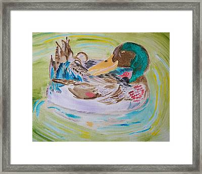Framed Print featuring the painting Nature's Music by Meryl Goudey