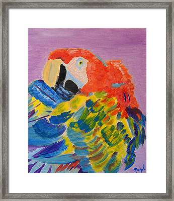 Framed Print featuring the painting Nature's Painting by Meryl Goudey