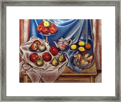 Natutremorte Framed Print by Vladimir Kezerashvili