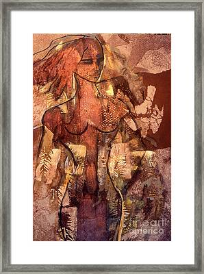 Naughty Lady Of Angel Fire Framed Print by Charles B Mitchell